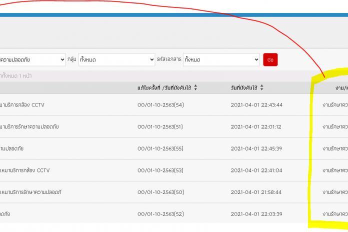 สลับ รายการแสดงผลใน datatable